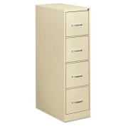 OIF Four-Drawer Economy Vertical File, 15w x 26-1/2d x 52h, Putty