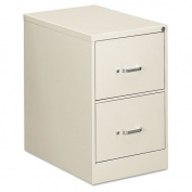 OIF Two-Drawer Economy Vertical File, 18-1/4w x 26-1/2d x 29h, Light Grey