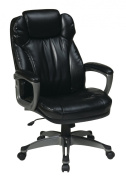 Work Smart ECH85807-EC3 Executive Eco Leather Chair with Padded Arms