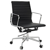 Manhattan Comfort Metro AL Mid-Back Adjustable Office Chair with Heavy-Duty Base