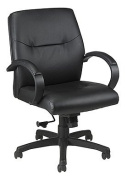 Maxx Leather Desk Chair Black Leather