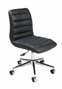 Pastel Furniture Hawthorne Office Chair in Pu Black