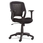 OIF Swivel/Tilt Mesh Task Chair, Black Arms/Base, Black