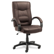 Alera® - Strada Series High-Back Swivel/Tilt Chair, Brown Leather Upholstery - Sold As 1 Each - Tailored seat and back with top-grain leather upholstery.