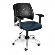 Stars and Moon Swivel Chair with Built in Lumbar Support Arm Type