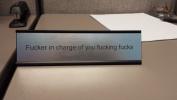 Funny Desk Plate for Boss - Gag Gift