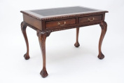 Chippendale style Two Drawer Leather-Topped Writing Desk
