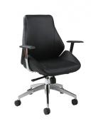 Pastel Isobella Office Chair - Chrome & Aluminium - Pu Black