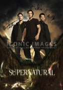 (11.7 X 8.3) Supernatural Tv Print Signed (Pre-print Autograph) Jensen Ackles Jared Padalecki Misha Collins