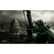 Fallout 3 Poster by Silk Printing # Size about (56cm x 35cm, 22inch x 14inch) # Unique Gift # 844EDC