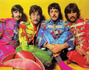 The Beatles Sergeant Peppers Classic Rock Music Legends Icons Postcard Poster Print 11x14