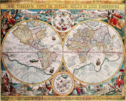 Map of the World (Orbis Terrarum) by Petrus Plancius 1594 - Art Poster Print