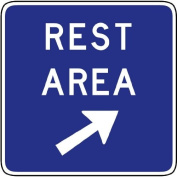 Street & Traffic Sign Wall Decals - Rest Area Exit Sign