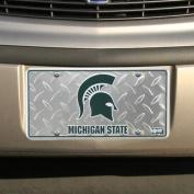 (6x12) Michigan State Spartans Diamond Cut NCAA Tin Licence Plate