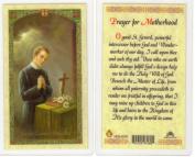 Saint/St. Gerard Holy Card Prayer for Motherhood