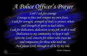 A Police Officer's Prayer Wall Poster