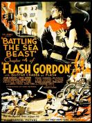 MOVIE FILM SERIAL FLASH GORDON BATTLING SEA BEAST SCI FI USA ART PRINT CC443