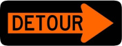 Street & Traffic Sign Wall Decals - Detour Right Arrow Sign