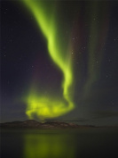 12 X 16 INCH / 30 X 40 CMS AURORA BOREALIS NOTHERNLIGHTS GREEN PHOTO FINE ART PRINT POSTER HOME DECOR PICTURE BMP201B