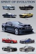 NMR 36006 Mustang Evolution Decorative Poster
