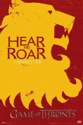 Game of Thrones Hear Me Roar Lannister Poster
