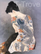 Tattoo Japanese Lady Wall Scroll R24
