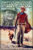 John Wayne Long Live 24x36 Poster Art Print Cowboy West Dog