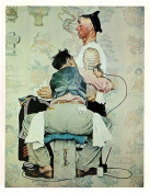 Norman Rockwell The Tattooist 1944 Art Print - 20cm x 25cm - Unmatted, Unframed