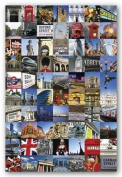 London Collage Poster Photos 24x36 England Art 33553
