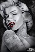Marilyn 1 (Marilyn Monroe Tattoos) by James Danger Harvey 60cm x 90cm Art Print Poster