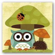 Owl and Hedgehog Poster by Nancy Lee