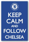 Keep Calm and Follow Chelsea Sports Poster Print