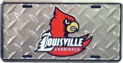 (6x12) Louisville Cardinals Diamond Cut NCAA Tin Licence Plate