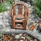 Miniature Fairy Garden Vine Chair