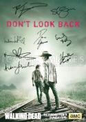 The Walking Dead Season 4 Tv Print (11.7 X 8.3) Signed (Pre-print Autograph) Andrew Lincoln Norman Reedus Danai Gurira Steven Yeun Melissa McBride Emily Kinney Chanlder Riggs Robert Kirkman