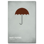 Trademark Fine Art Mary Poppins by Christian Jackson Canvas Wall Art