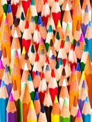 12 X 16 INCH / 30 X 40 CMS colourful PENCILS ABSTRACT ARTIST COLOUR DRAWING PHOTO FINE ART PRINT POSTER BMP455B