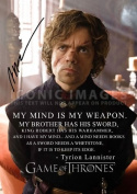 Game Of Thrones Season 4 Tyrion Lannister (11.7 X 8.3) Tv Print Signed (Pre-print Autograph) by Peter Dinklage