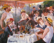 Lunch of the Boating Party By Pierre-auguste Renoir. Art Print Poster