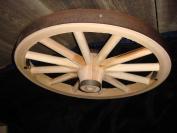 Decorative - Wood Waggon Wheel - 90cm x 2.5cm Steam Bent Hickory Waggon Wheel with wooden hub