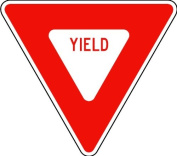 Street & Traffic Sign Wall Decals - Red Yield Sign