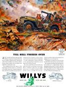 WAR ADVERT JEEP TRANSPORT BATTLE STALINGRAD HELL WWII USA POSTER PRINT BB7749B