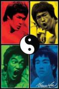 AQUARIUS Bruce Lee Colour Poster Print, 60cm by 90cm