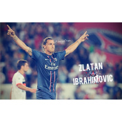 Zlatan Ibrahimovic Poster by Silk Printing # Size about (95cm x 60cm, 38inch x 24inch) # Unique Gift # 1E0D12