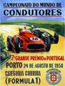 Formula 1 Portugal Porto Car Race Grand Prix 1958 30cm X 41cm Image Size Vintage Poster Reproduction