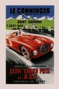 1949 Speed Race Grand Prix Car Le Comminges Sport France French 30cm X 41cm Image Size Vintage Poster Reproduction