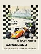 1968 Barcelona Spain Spanish Car 5 Automobile Race Grand Prix Fine 30cm X 41cm Image Size Poster Reproduction