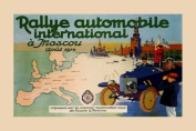 International Rally Car Race Grand Prix Russia Moscow 1914 30cm X 41cm Image Size Poster Reproduction