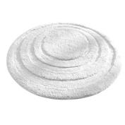 InterDesign Spa Round Bath Rug, White