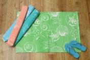 Cotton Ribbed Seashell Rug - Green